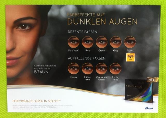 Air Optix Colors bei dunkler Augenfarbe Der Preis für die 2er Box 25,90 € pro Linse 12,95 €
